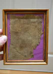 A nicely framed segment of linen wrapping from an Ancient Egyptian Mummy,  SOLD